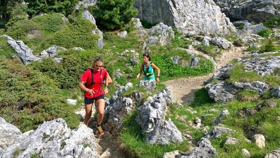 Trail running in the Dolomites with addictive potential