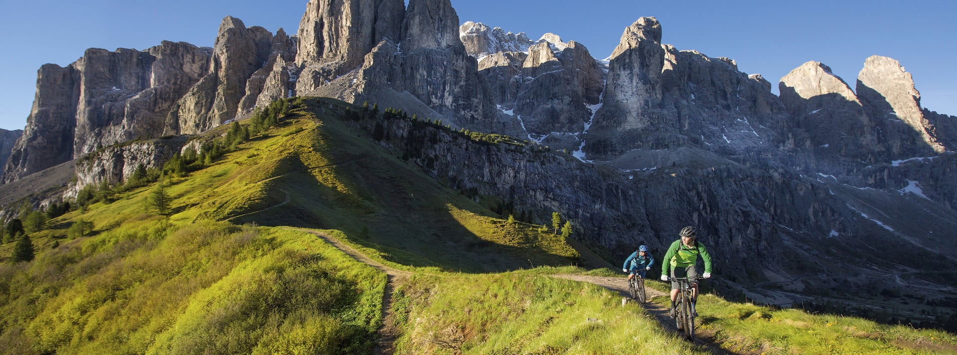 Cycling from my bike hotel in the Dolomites