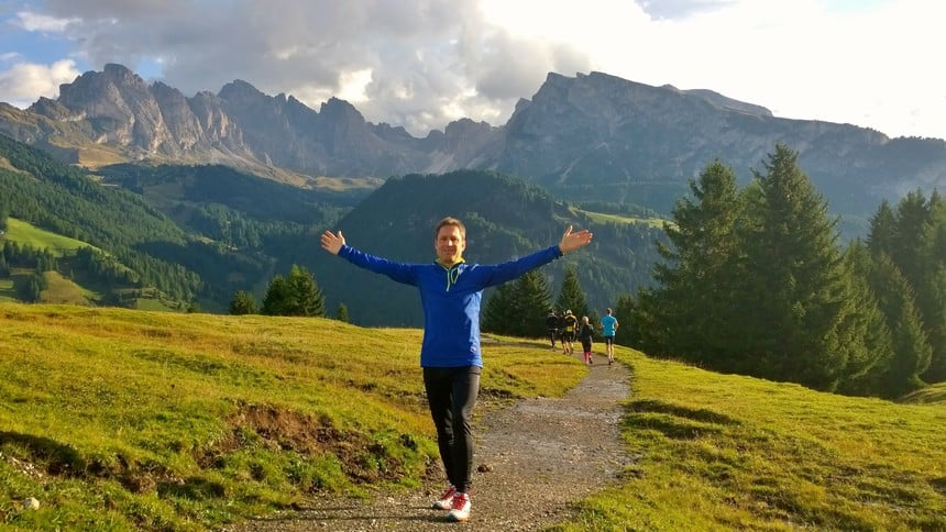 Marcel also took part in the marathon training on the Monte Pana in South Tyrol.